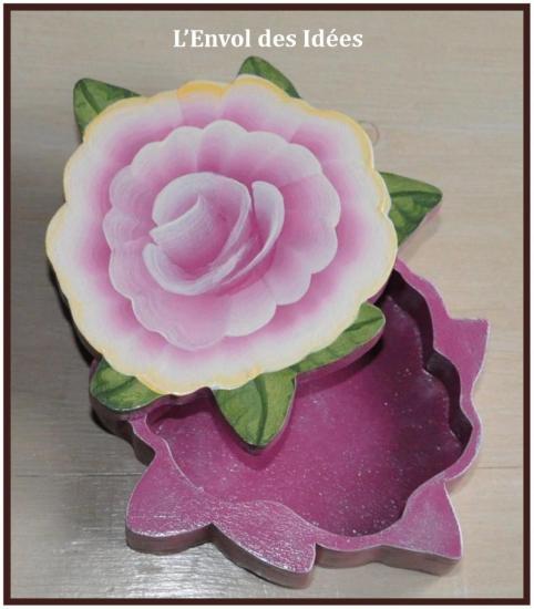 Boîte à Bijoux Fleur ouverte