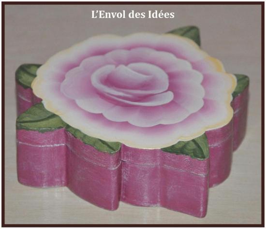 Boîte à Bijoux Fleur de profil