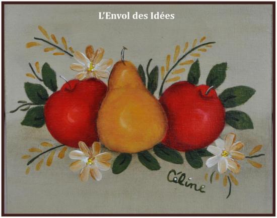 Motif Boîte Fruits
