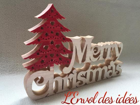 Merry christmas vue de profil
