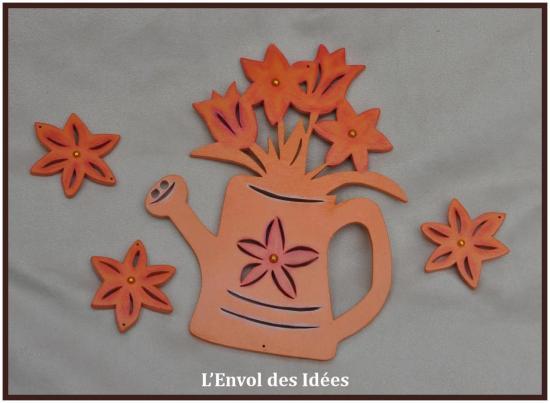 Arrosoir Fleurs différents éléments