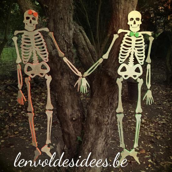 Squelettes recadres de pres