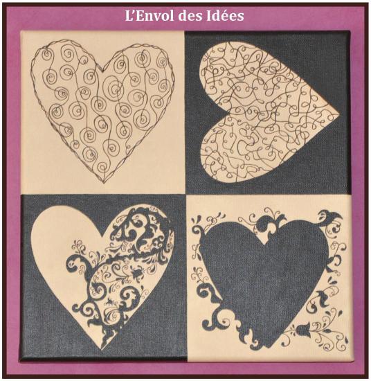 Triptyque coeur détail 3